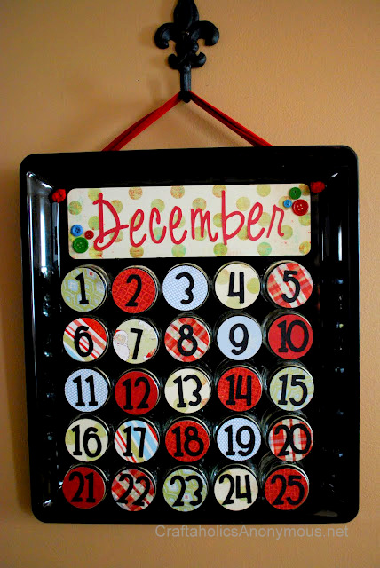 baby food jar advent calendar