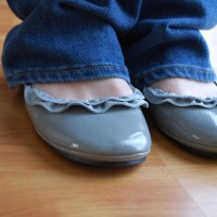 zipper ruffle ballet flats TUTORIAL