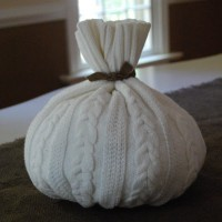 cream sweater pumpkin….that's actually green….