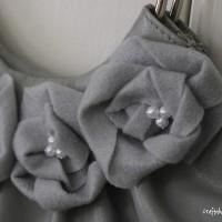gray felt flowers TUTORIAL