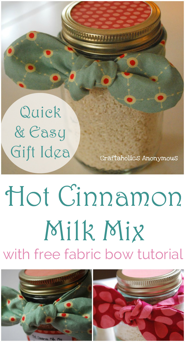 Need a last minute gift? This Hot Cinnamon Milk is easy and delicious! Bonus, make a sweet little bow with the free tutorial!