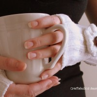 sweater wrist warmers TUTORIAL