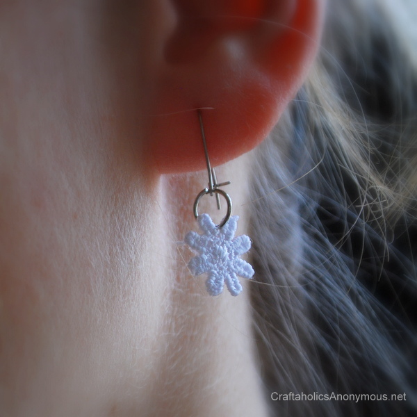 diy lace earrings