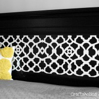 headboard makeover using my Silhouette {quick Tutorial}