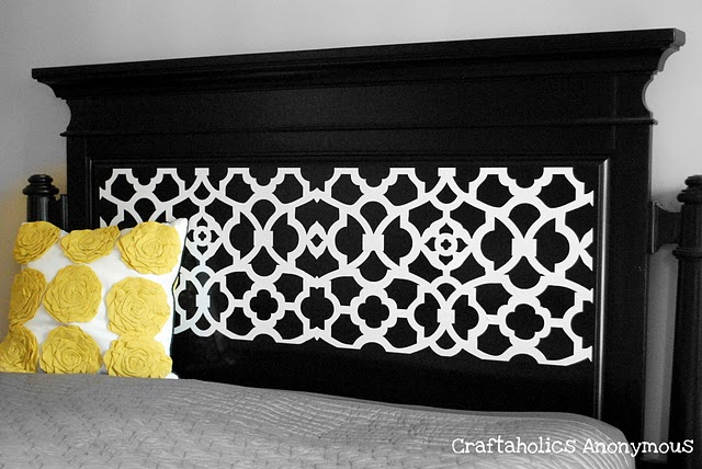 Craftaholics Anonymous® | A Headboard Makeover on the cheap!
