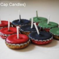 bottle cap candles TUTORIAL