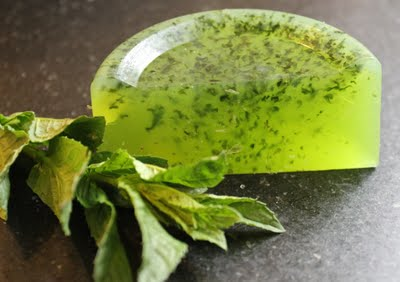 how to make herb soap