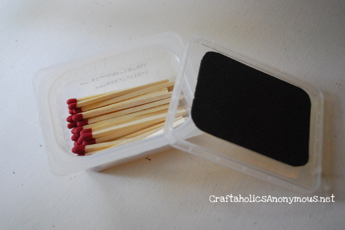 Adorable Match holder made with plastic Baby Food container