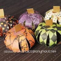 halloween paper pumpkins!