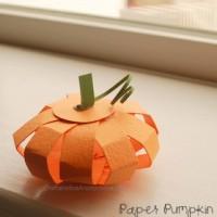 Mini Paper Pumpkins {TUTORIAL}