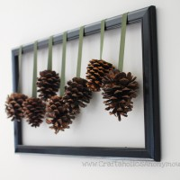 Easy Framed Pine Cones