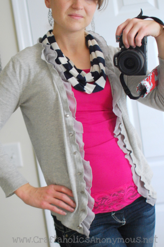 infinity scarf from old tee