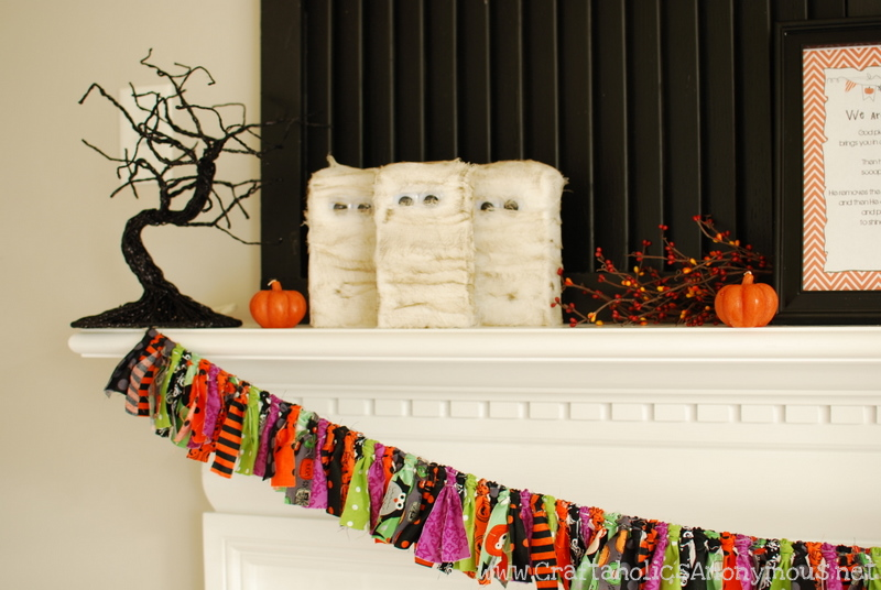 halloween fabric banner. Easy halloween craft idea!