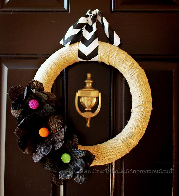 burlap halloween wreath