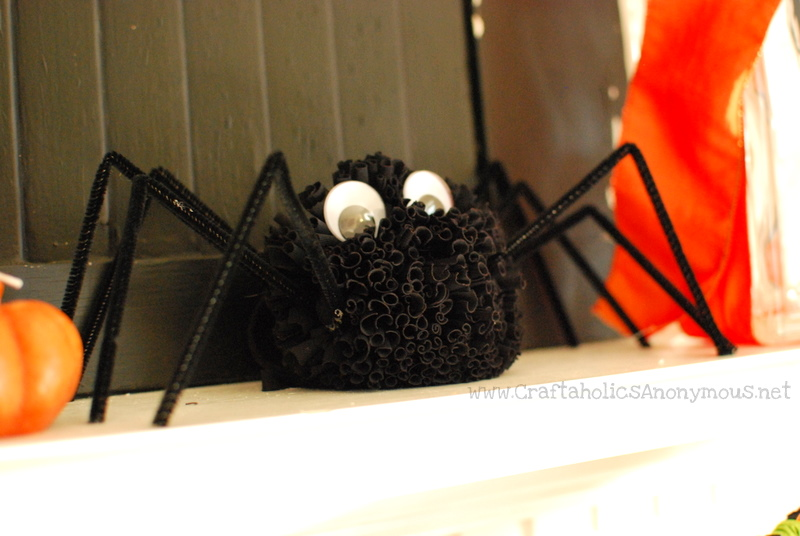 black, spider, halloween, craft