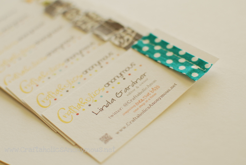 business cards for a craft blogger
