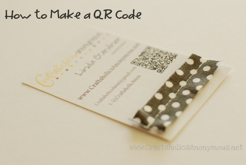 How to make a qr code for Create qr code business card