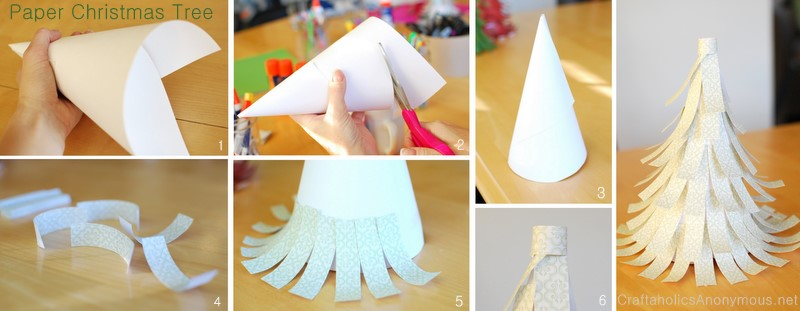 how to make a christmas tree out of paper