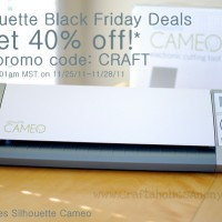 Silhouette & Lifestyle Crafts Black Friday DISCOUNT info