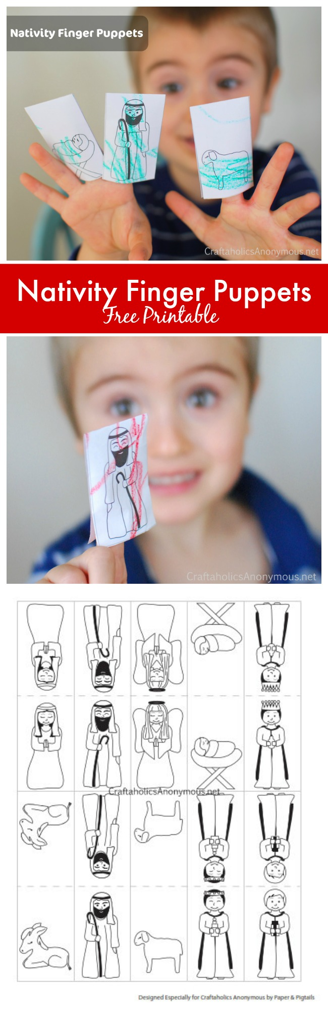 Nativity Finger Puppet printable