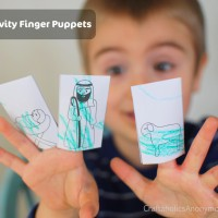 Nativity Finger Puppets {FREE christmas printable!}