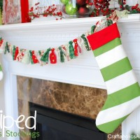 Striped Christmas Stockings