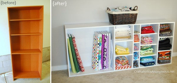 how to store and organize fabric