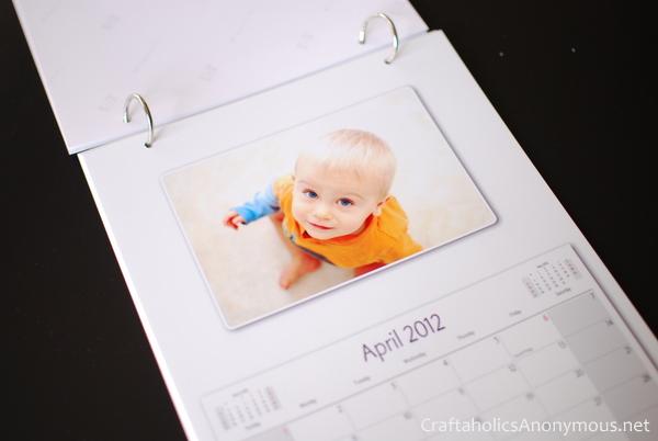 handmade photo calendar