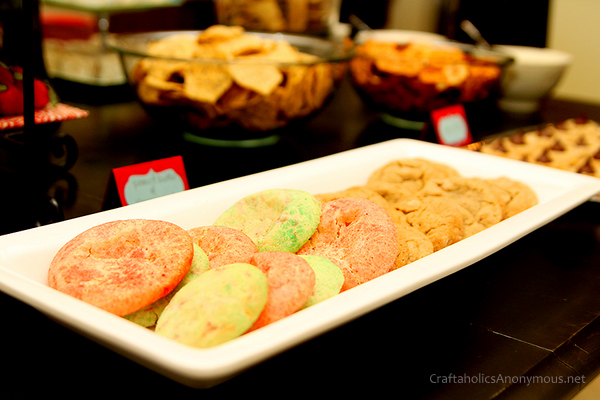red and green sugar cookies