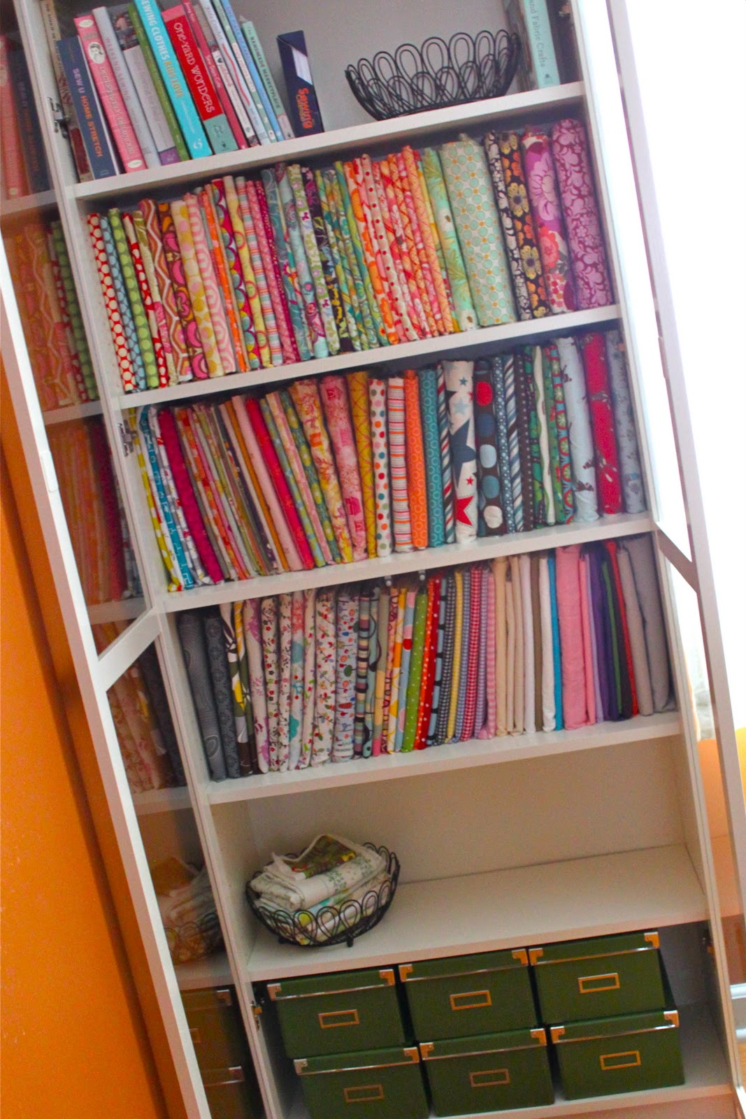 fabric storage and fabric organization ideas