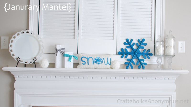 mantel decor for january