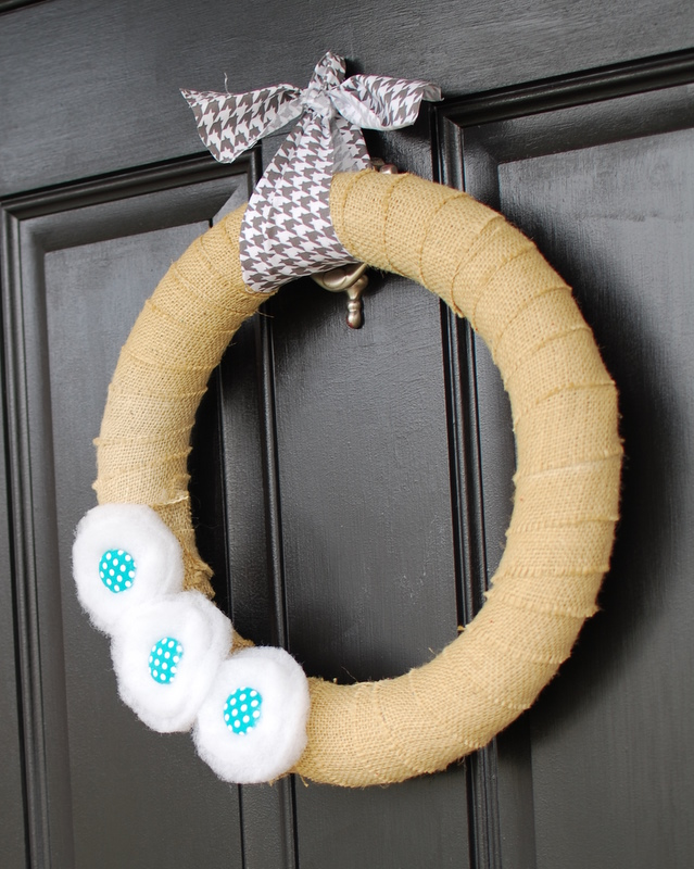 burlap winter wreath