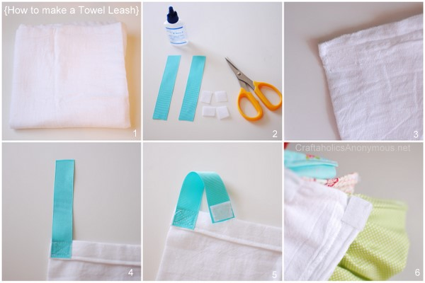 how to sew a towel leash