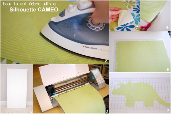 instructions for cutting fabric with a cameo
