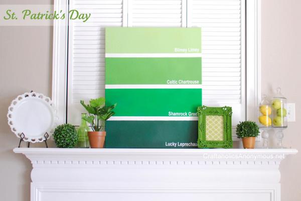 green holiday decor