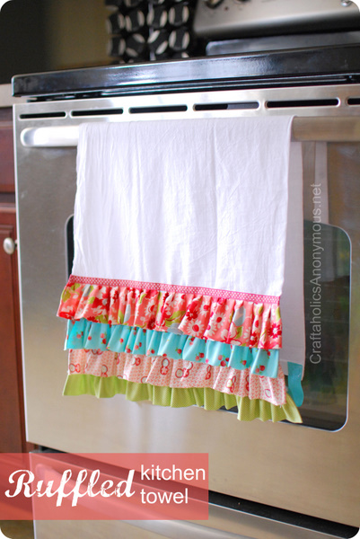 how to make a ruffled towel