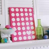 Polka Dot Canvas + FREE Printable!