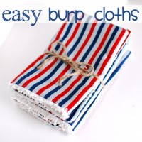 How to Sew Easy Burp Cloths TUTORIAL