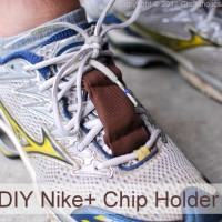 Nike+ chip holder TUTORIAL