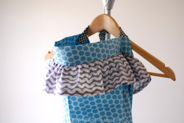 ruffled breastfeeding cover