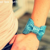 Bow Cuff Bracelet from a Purse