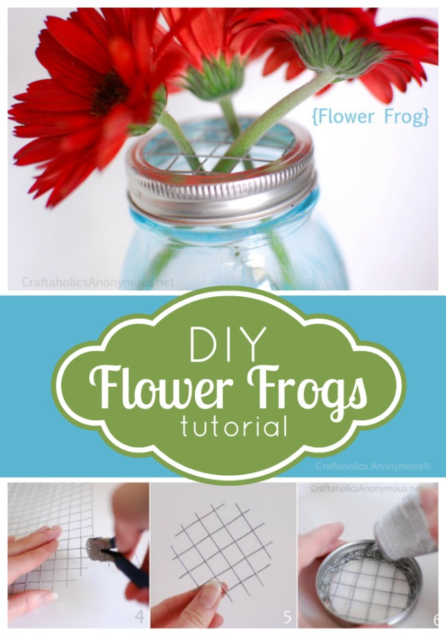 mason jar flower frogs tutorial