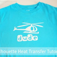 Silhouette Heat Transfer TUTORIAL + CAMEO Giveaway