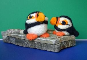 puffin wool felting kit