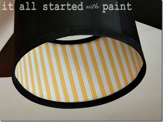 washi tape lamp shade