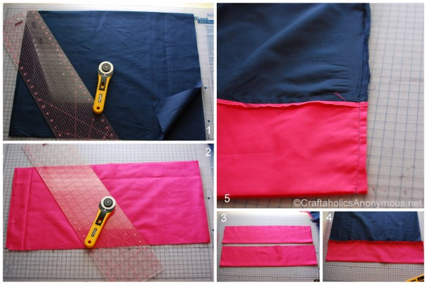 DIY color block skirt