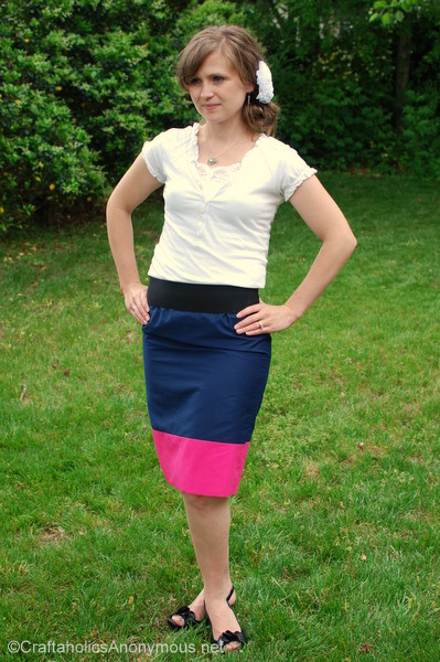 how to sew a color block skirt