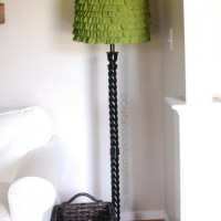 Ruffled Lamp Shade Makeover