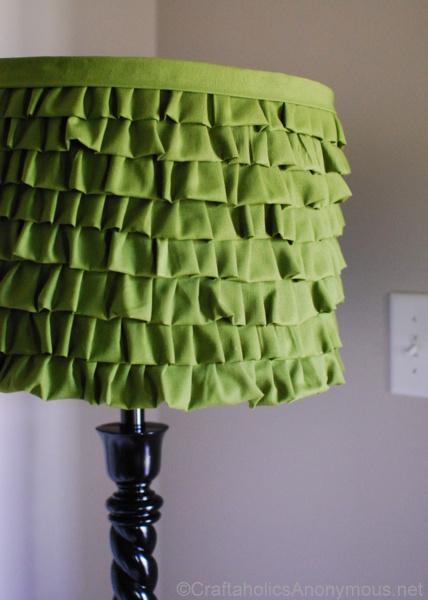 ruffled lampshade