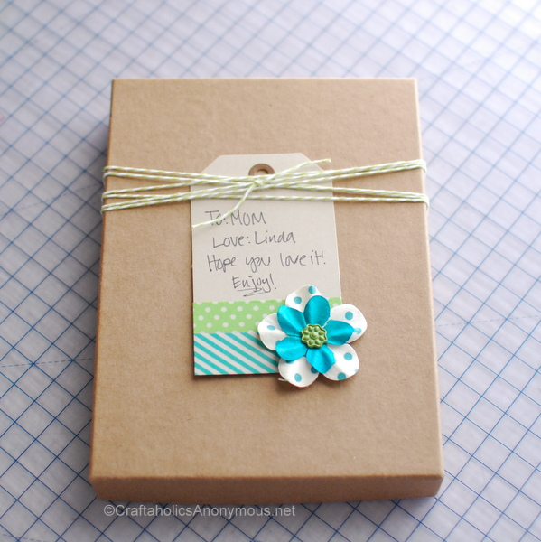 washi tape gift tag